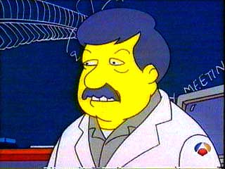 Stephen Jay Gould as he appeared on the Simpsons in 1997